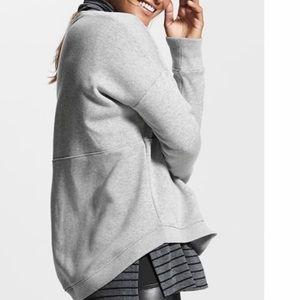 Athleta Cozy Karma Crew Sweatshirt Size XL Gray